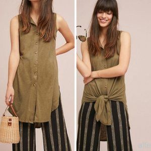 ANTHROPOLOGIE T.la Gambier Button Front Tunic